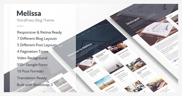 Melissa WordPress Theme