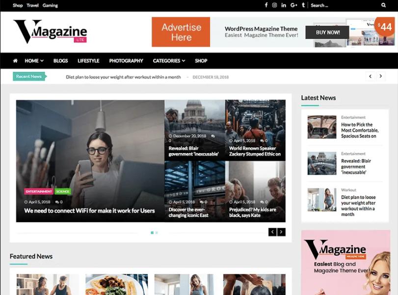 VMagazine WordPress Theme