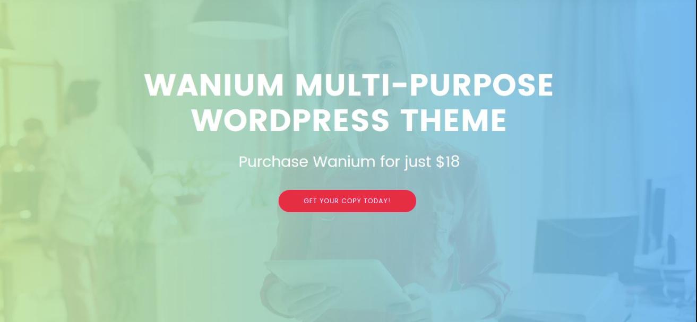 Wanium WordPress Theme