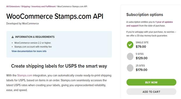Woocommerce Stamp Intergration