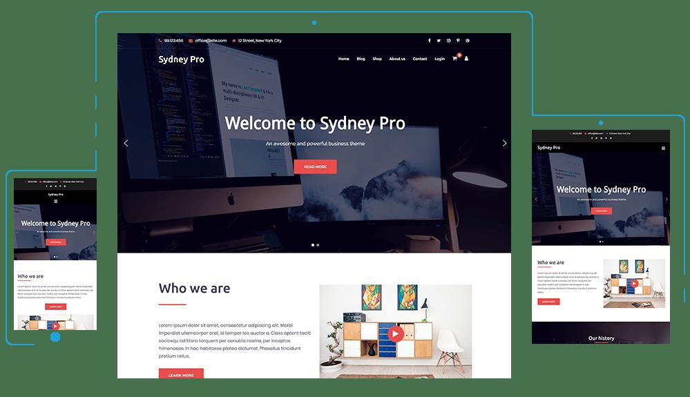 sydney pro wordpress theme