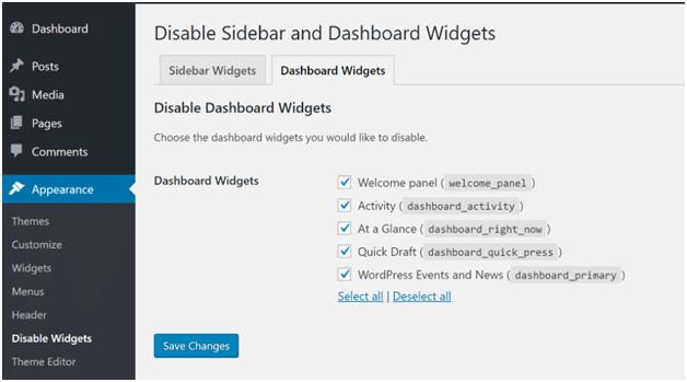 Slow Wordpress Dashboard