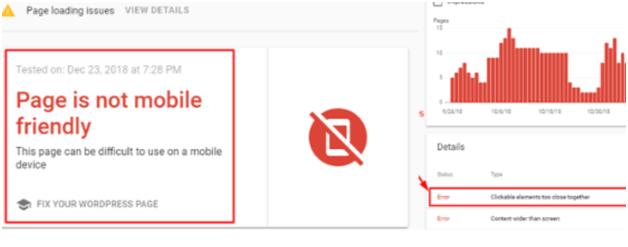 Page is not mobile friendly