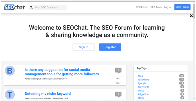 SEO Chat Forum