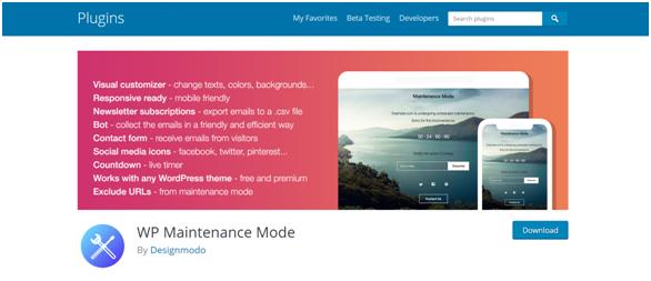 enable WordPress maintenance mode using plugin