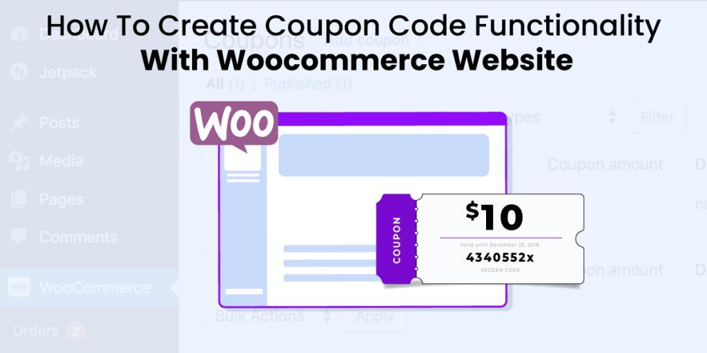 create coupon code functionality