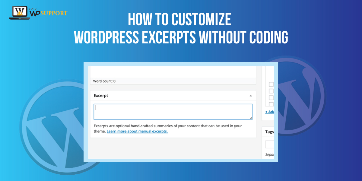 Customize WordPress Excerpts