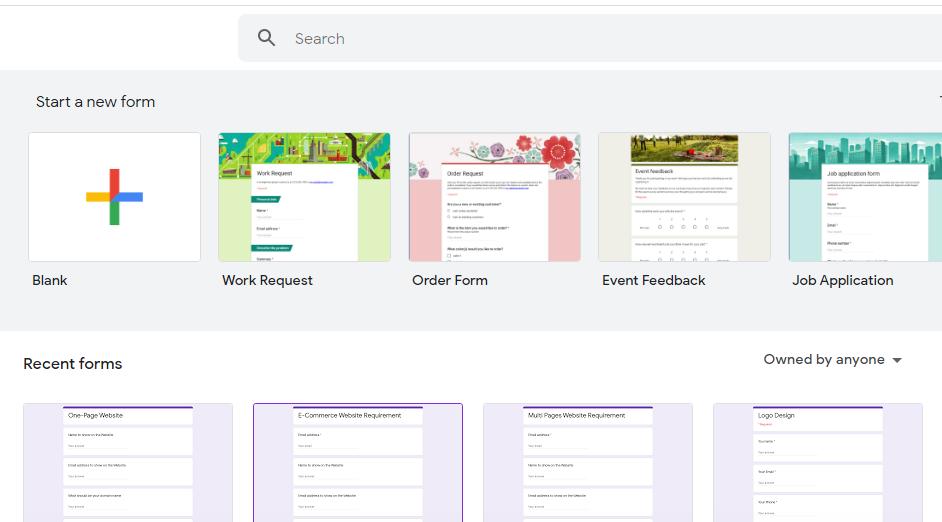Google Form Templates