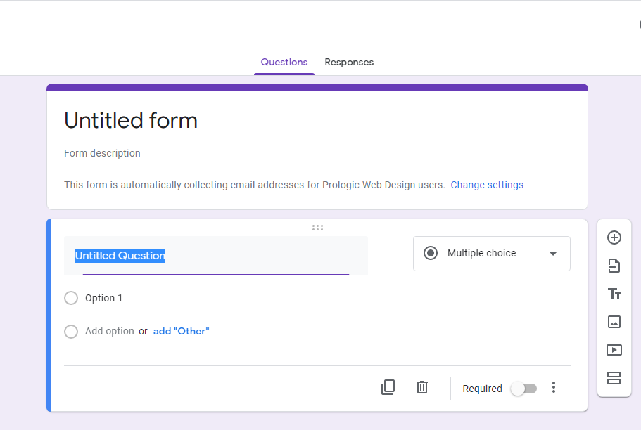 Google Form Title