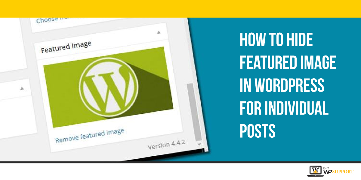 Hide a Featured Image In WordPress