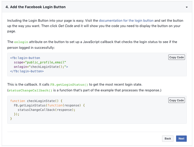 add facebook login button