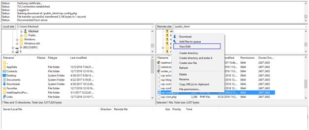 blank wordpress admin panel