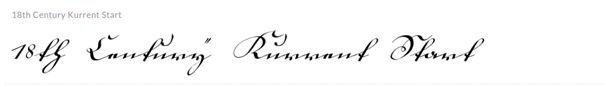 18th Century Kurrent