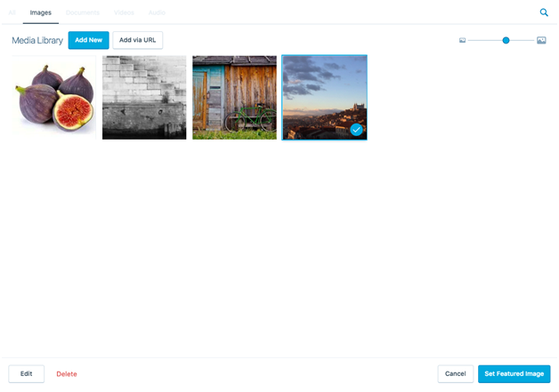 Add feature images