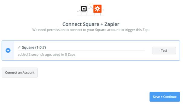 Integrate Zapier with Square