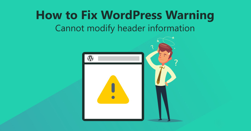 header information error in wordpress
