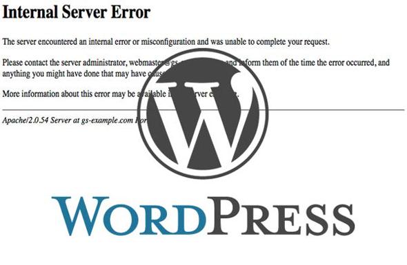 Fix WordPress Internal Server Error 500